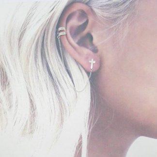 Ear cuff cadena