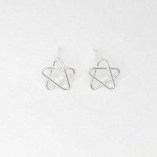 pendientes estrella en plata