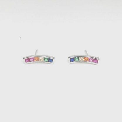 pendientes arcoiris